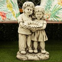 Children with Bird Feeder - 61cm