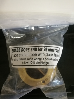 BRASS ROPE END 28mm