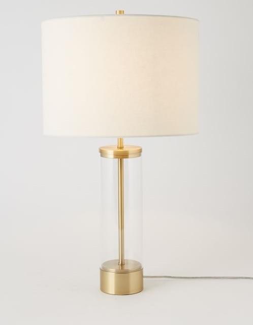 Table lamp contemporarymetal base quality irish interiors glass base table lamp aloadofball Gallery