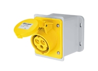 IP67 Wall Mounting Inclined Box Socket 2 Pin + Earth 110-130V 32A