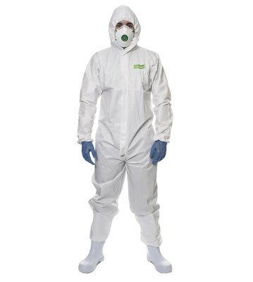 Chemsplash Eco Disposable Laminate Coverall c/w Hood Type 5/6