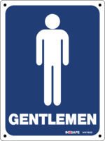 GENTLEMEN Male Toilet Sign