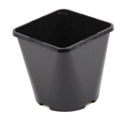 Aeroplas Container Pot Square/Round Slotted 3lt - Black