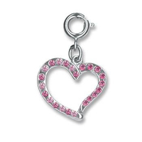 CHARM IT Swirl Heart Charm. (Priced in singles, order in multiples of 6)
