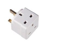 DETA 2WAY 13A FUSED ADAPTOR