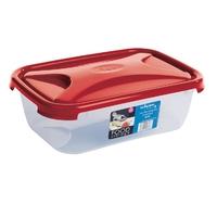 Cuisine 1.6Ltr Rectangular Food Box Chili Red Lid