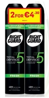 Right Guard Total Defence 5 Mens Fresh Aerosol 250ml Banded Pack