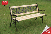 Garden Bench Rose Resin Back Slat