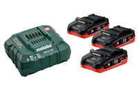 Metabo Battery Set 3 x 3.5Ah Li-HD & Charger