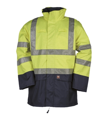 SIOEN 9464 Flame Retardant Anti Static Hi-Visibility Jacket with Detachable Lining.