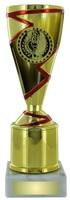 17cm Gold/Red Plastic Cup Trophy (V201)