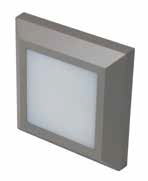 LED TWILIGHT 3W LED square wall light,  IP65, Grey, 3000K