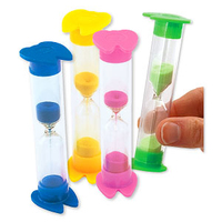 TOYS - BRUSHING TIMERS PK 36  ASST COLOURS  BLUE  YELLOW  PINK  GREEN