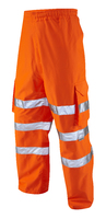 Instow Class 1 Breathable Orange Cargo Overtrouser