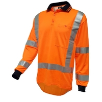 Techni Vision Hi Vis TTMC-W17 Polyester Long Sleeve Polo