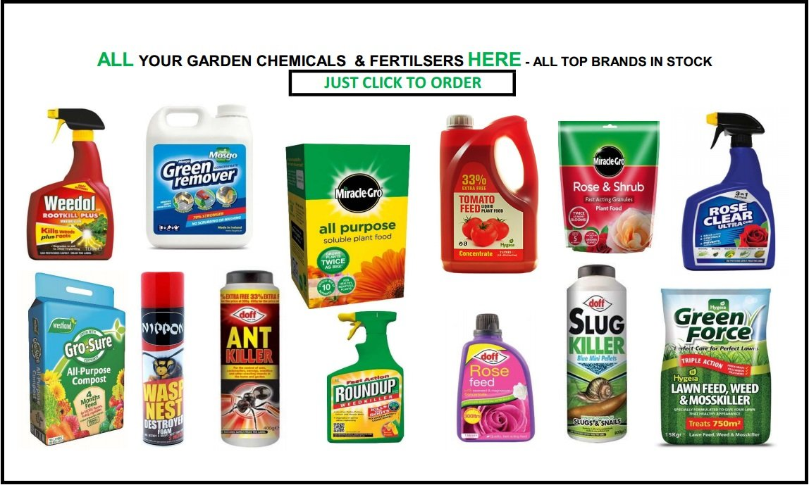 GARDEN CHEMICALS, FERTILISERS & COMPOST