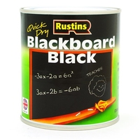 RUSTINS QUICK DRYING BLACKBOARD PAINT BLACK 1LTR