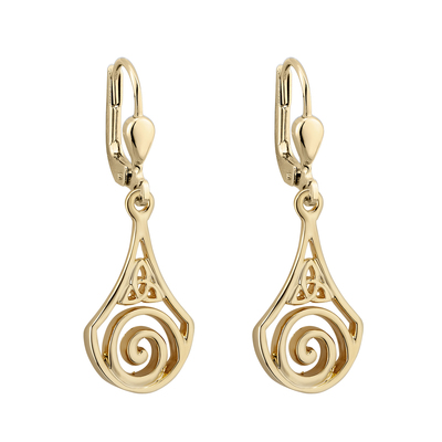GP TRINITY CELTIC DROP EARRINGS