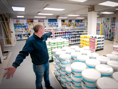 Virtual Tour of Kellys Warrenpoint's Huge Paint Department with Shane