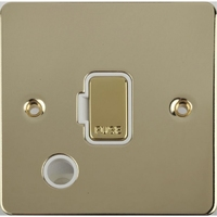 Flat Plate Polished Brass 13A UNSW FSD F/0 WH | LV0701.0474