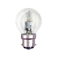 TOUGH LAMP - GOLF BALL 45MM   240/50V 28WATT (40W) BC/B22 CLEAR