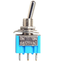 Switch| Toggle Switch Mini 3 Pins SPDT ON-ON 6A 125VAC