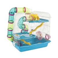 Little Zoo Henry Hamster Cage Blue x 1