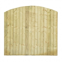 DOME FEATHEREDGE PANEL 6' X 3' FULL FRAME GRN