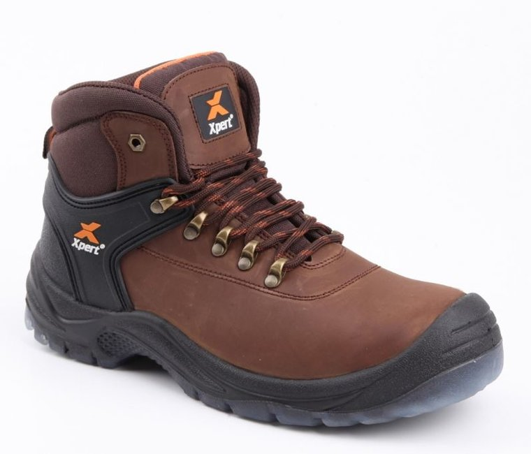 Xpert Warrior Hiker Safety Boot Brown