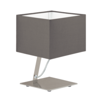 EGLO Nambia 1 Satin Nickel with Cappuccino Shade Square Table Lamp | LV1902.0081