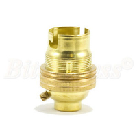Lampholder 3003E Brass Lamp Holder B22