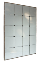panelled wall mirror