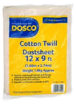 DOSCO 71048 12x9'' HEAVY TWILL DUST SHEET