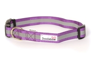 Doodlebone Adjustable Bold Collar Small - Reflective Purple x 1