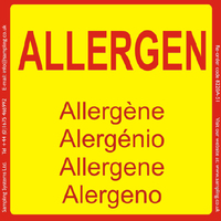 Allergens, 95 x 95mm, 1 roll of 500