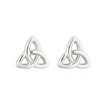 sterling silver small trinity knot stud earrings s3082 from Solvar