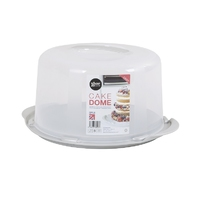 15cm Deep Round Cake/Cheese Dome Aluminium/Clear