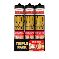 No More Nails Interior Cartridge Triple Pack  (Unibond)