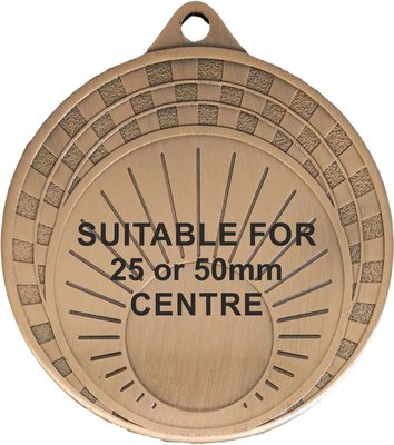 70mm Medallion with Sun Rise Design (Bronze)