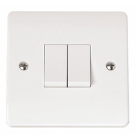Click Mode CMA012 2G 10A 2 Way Plate Switched