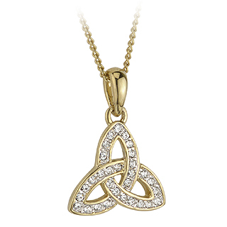 G.P. CRYSTAL TRINITY KNOT PENDANT(BOXED)