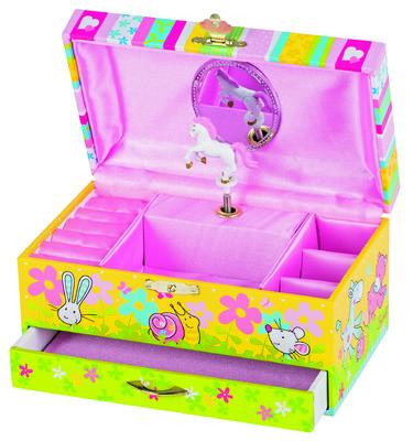 Music Jewellery Box with Drawer. Goki
