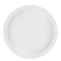 "Pure White Narrow Rim Plate 10.75"" (27.3cm)"
