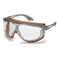 Uvex Skyguard Safety Glasses, Grey/Orange