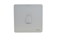 Schneider Ultimate Screwless 1g 2way Switch Stainless Steel white|LV0701.0897