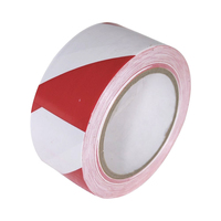50mm Red & White adhesive floor tape