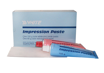 Impression Materials PASTE SS WHITE 150g