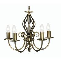 Tuscany 5 Light Pendant Antique Brass