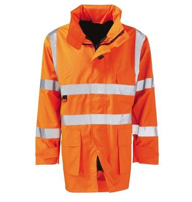 Vesuvius Flame Retardant Anti Static Hi-Visibility Jacket Orange