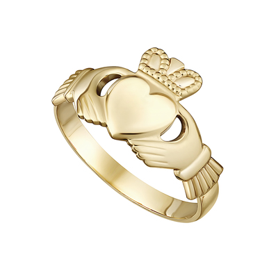 10K MAIDS CLADDAGH RING